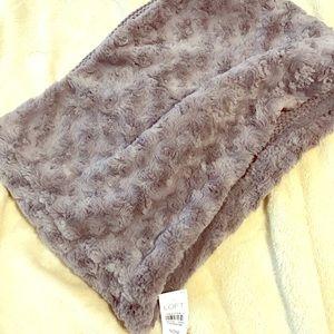Loft faux fur funnel neck scarf